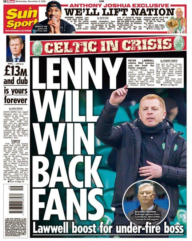 Scottish Sun back page