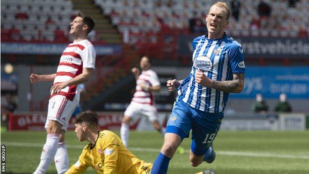 Mitch Pinnock scores his second goal for Kilmarnock