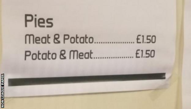 Meat and potato pies on the menu