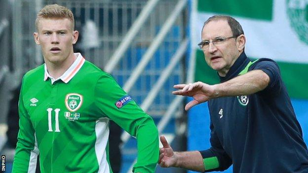 James McClean and Martin O'Neill criticised the referee after the 1-1 draw with Austria