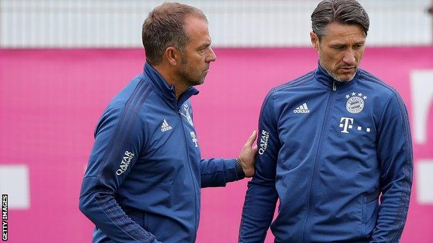 Hansi Flick (left) and Niko Kovac