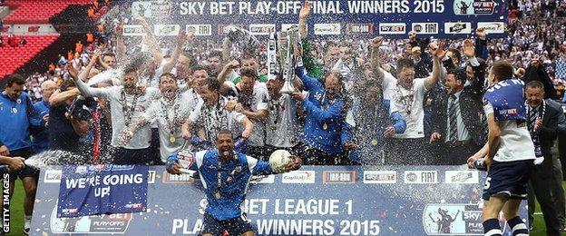 Preston celebrate promotion