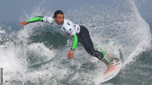 English surfer Luke Dillon