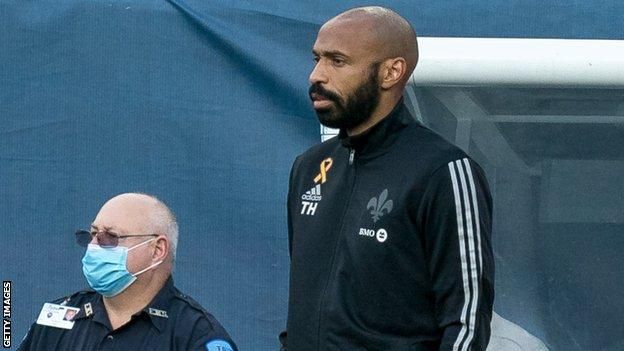 Thierry Henry on the sidelines at MLS club Montreal