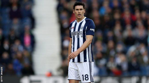 Gareth Barry playing for West Brom