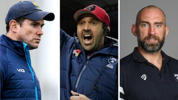 The departure of Rory Duncan (left) allows Jonathan Thomas to return to Worcester, while John Muldoon (right) will take over the same coaching role at Bristol