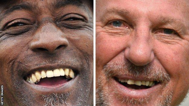 Split screen: Sir Viv Richards and Sir Ian Botham