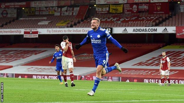 Europa League: Jamie Vardy hits another milestone in Leicester's ideal start