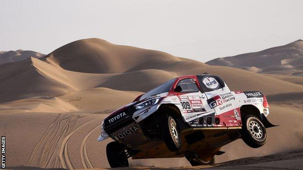Toyota competing at the Dakar rally