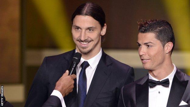 Zlatan Ibrahimovic and Cristiano Ronaldo