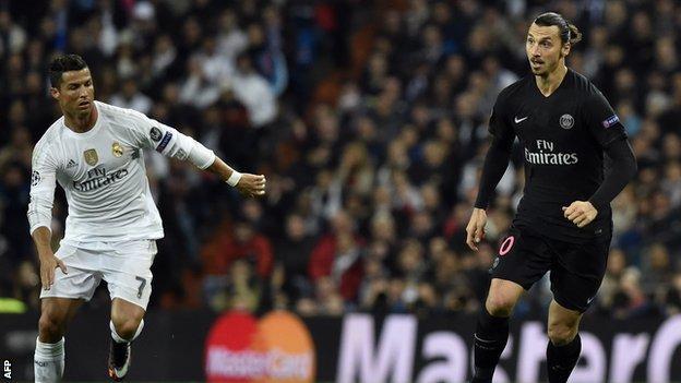 Cristiano Ronaldo and Zlatan Ibrahimovic