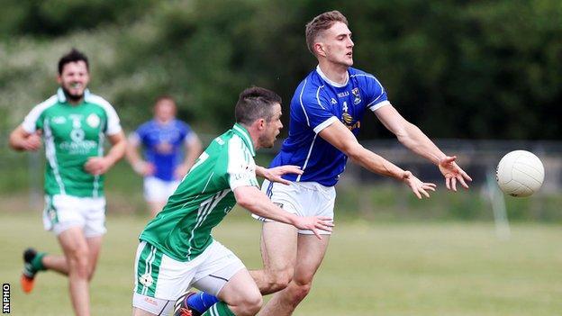 Killian Clarke in action for Cavan against London on Saturday