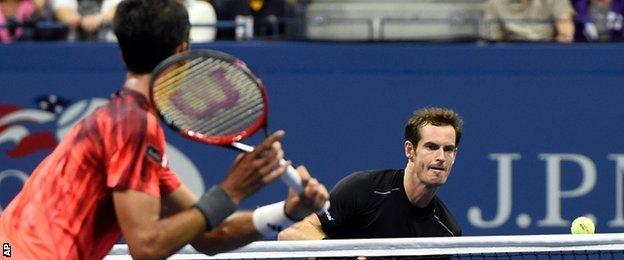 Thomaz Bellucci and Andy Murray