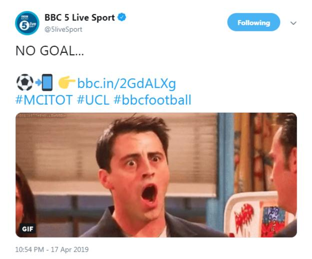 BBC Radio 5 Live tweet