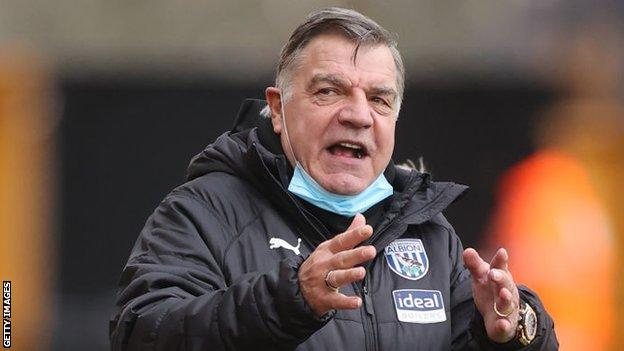 West Brom manager Sam Allardyce