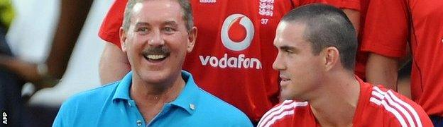Alllen Stanford with Kevin Pietersen
