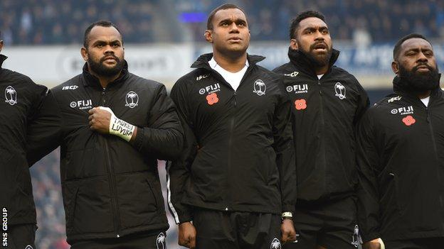 All of Fiji's Autumn Nations Cup pool matches have been cancelled