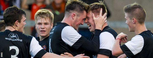 Jordan Moore rubbed shoulders with the likes of Andrew Robertson, Ryan Gauld and John Souttar at Dundee United