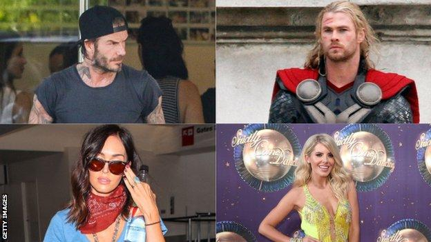 David Beckham, Chris Hemsworth, Megan Fox and Mollie King have all used personal trainers to help with their fitness