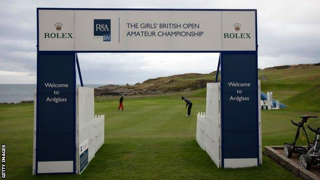 A general view of the Girls' British Open Amateur Championship at Ardglass