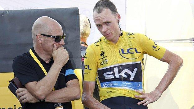 Sir Dave Brailsford (left) and Chris Froome