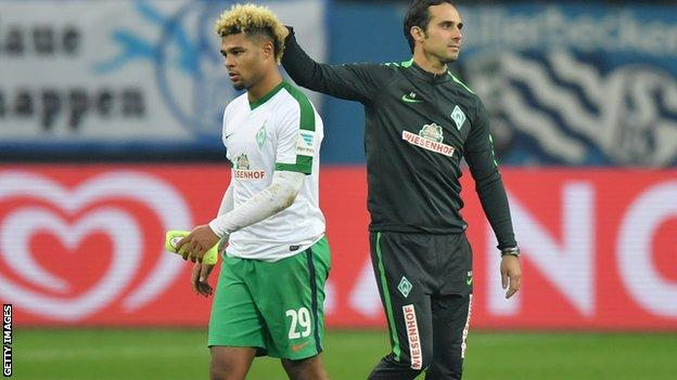 Serge Gnabry is encouraged by former Bremen boss Alexander Nouri