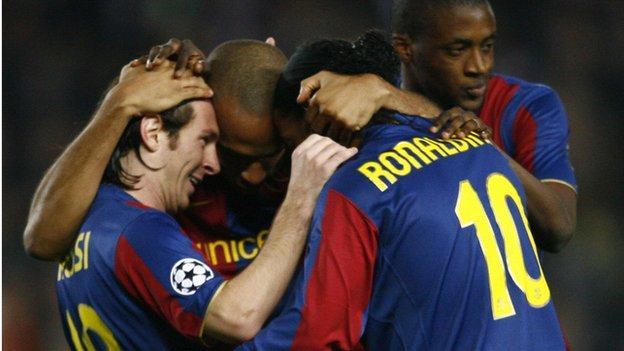 Messi, Thierry Henry, Ronaldinho and Yaya Toure