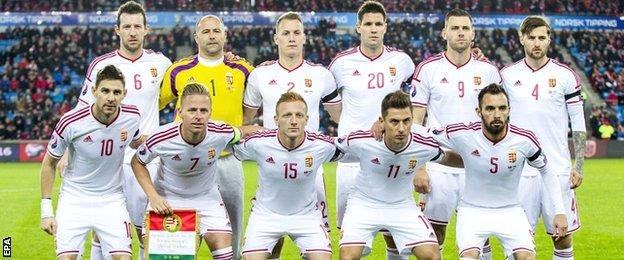 Hungary team wear black armbands