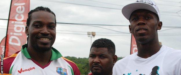 Chris Gayle and Usain Bolt