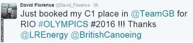 David Florence twitter