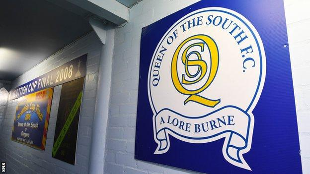 Queen of the South crest at Palmerston Park