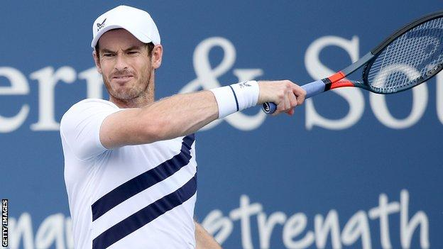 Raonic leads Murray at W&S Open, play suspended