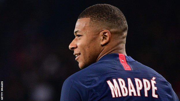 Paris Saint-Germain striker Kylian Mbappe
