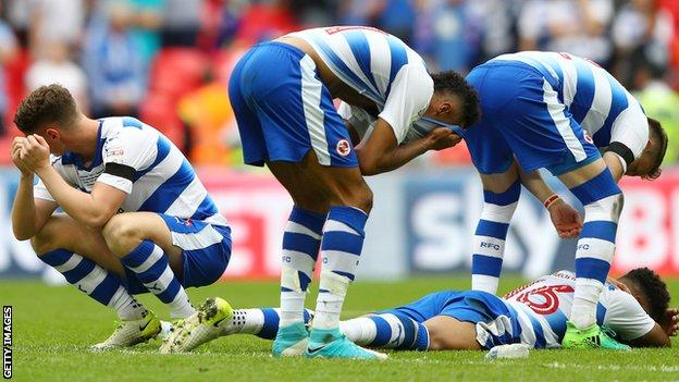 Reading players dejected