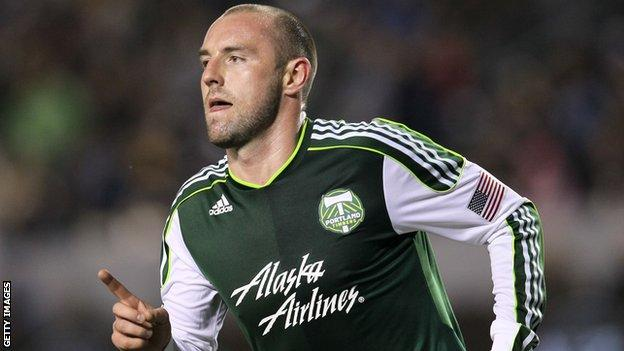 Kris Boyd in action for Portland Timbers