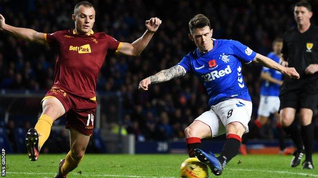 Ryan Jack was injured playing for Rangers on Sunday