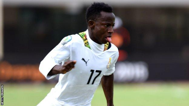 Good nature news Yaw Yeboah in action for Ghana under-20's