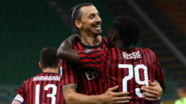 AC Milan 4-2 Juventus: Zlatan Ibrahimovic scores as Milan beat Serie A leaders - bbc