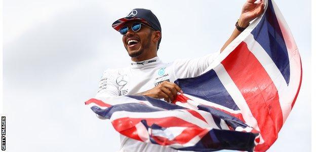 Lewis Hamilton after winning the 2016 British GP