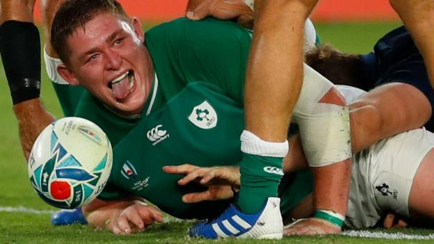 Ireland 27-3 Scotland: Joe Schmidt's side win Rugby World Cup opener thumbnail