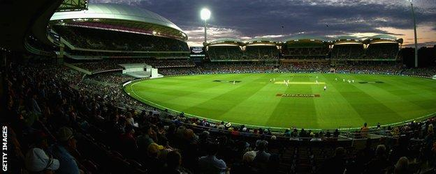 Adelaide Oval at night