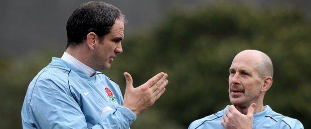 Martin Johnson and Phil Pask