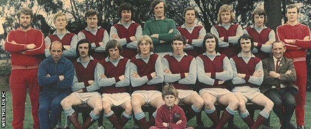 Westfields FC 1971-72 team photo