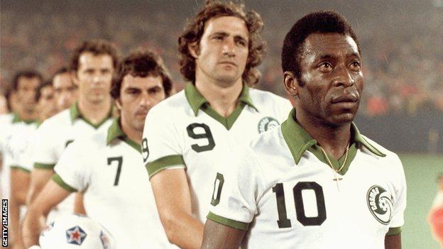 Pele with New York Cosmos