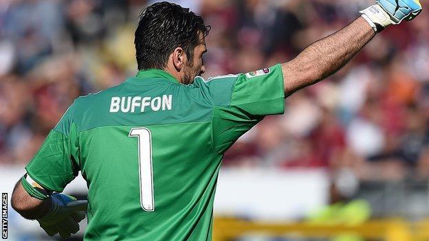 Juventus keeper Gianluigi Buffon