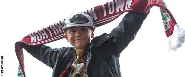 Northampton supporters celebrate