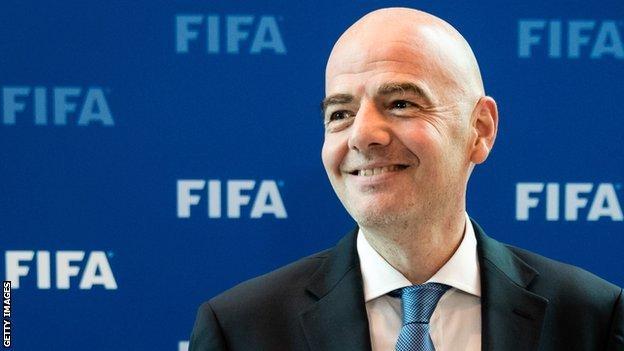 Gianni Infantino president of Fifa