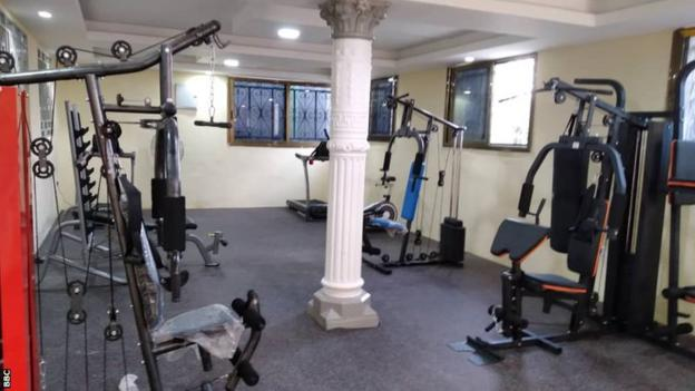 The gym at the new headquarters of Sierra Leonean club Bo Rangers