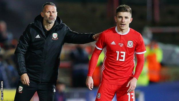 Declan John featured in Wales' friendly win over Trinidad and Tobago in March 2019