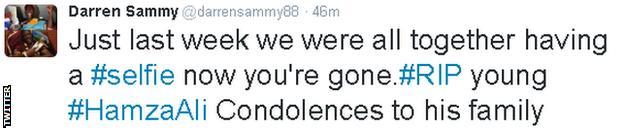 Darren Sammy on Twitter